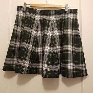 J. Crew Full mini skirt in tartan plaid